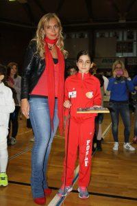 Chiara Castagnoli alla premiazione del trofeo preziosi Junior