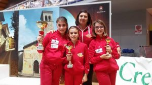 il dream team: Asia, Anita, Francesca con Judit